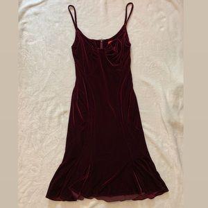 Zac Posen Burgundy Velvet Dress